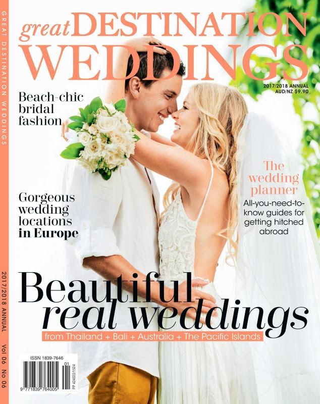 Great destination weddings magazine cover