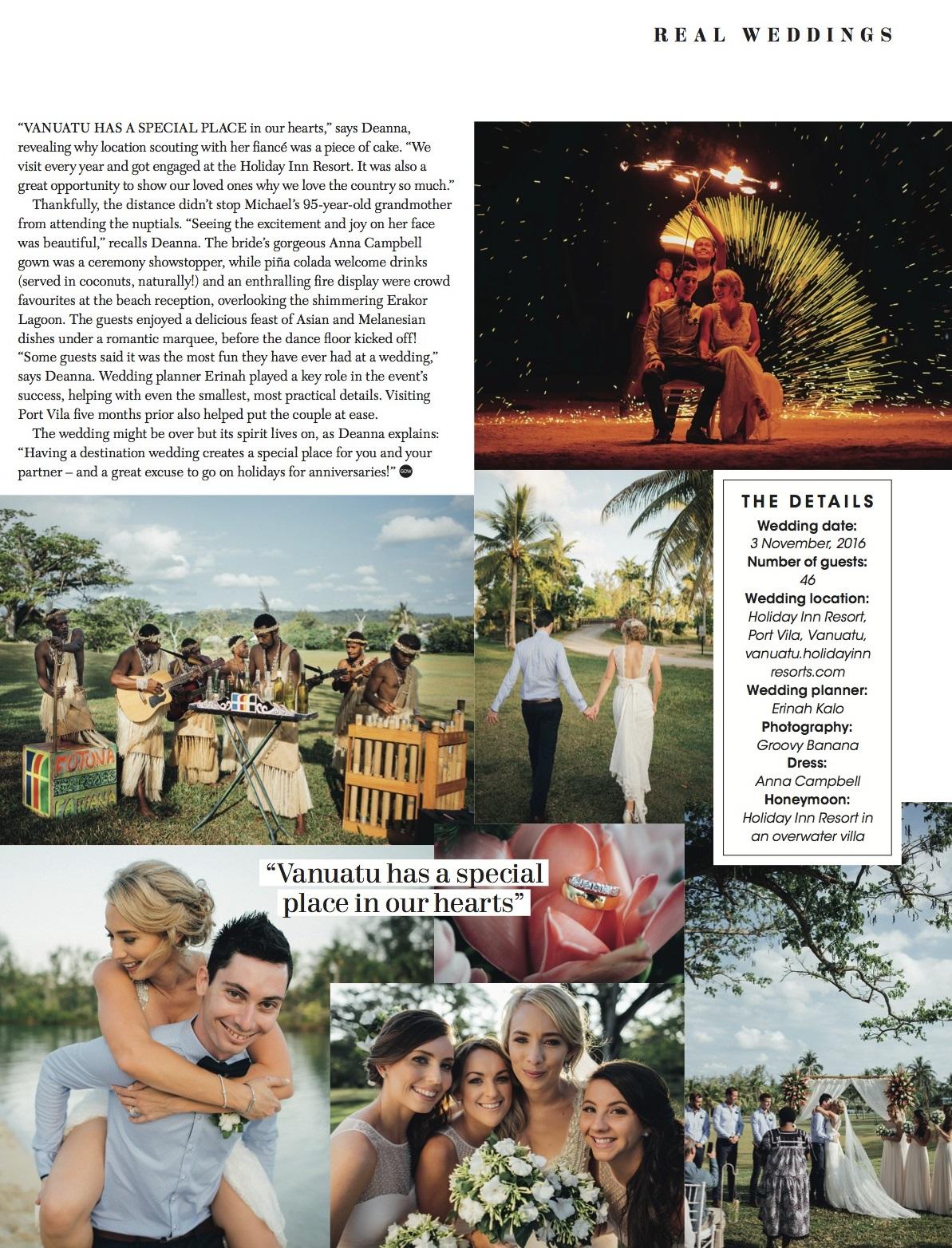 Resort Vanuatu Weddings