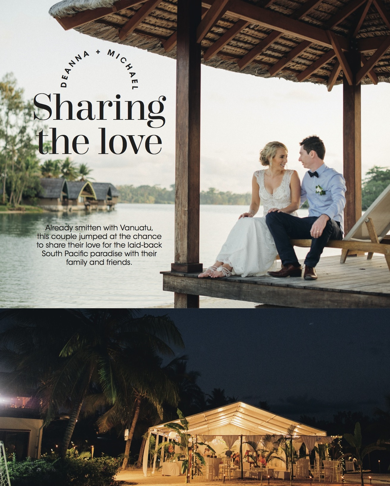 Soon to be married couple in Vanuatu Resort